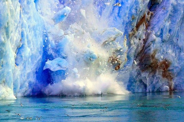 Icebergtsunami Antarctica Cruise Antarctica Glacier