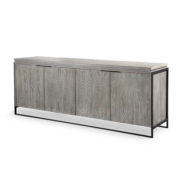 westwood industrial style elm buffet washed grey modern sideboard rh uk pinterest com