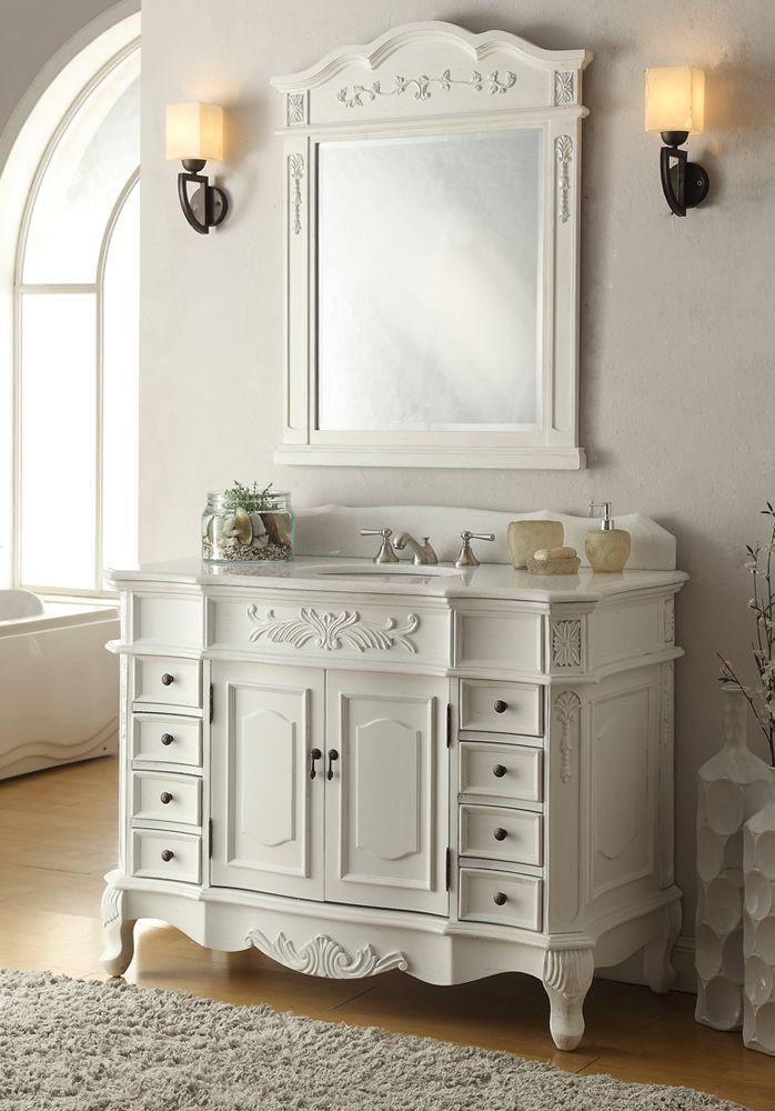 Adelina Antique White Bathroom Vanity