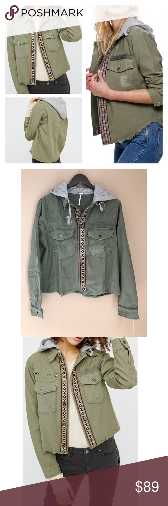 7fa260df2b17 Free People Military Jacket NWT | Pinterest