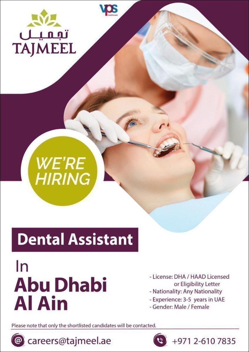 Dental Assistant UAE Job Openings Dental assistant, Job