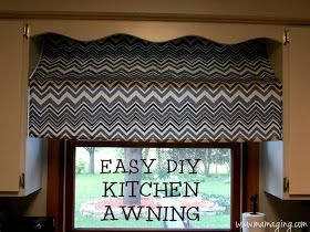 kitchen awning curtain for the home diy awning window awnings rh pinterest com