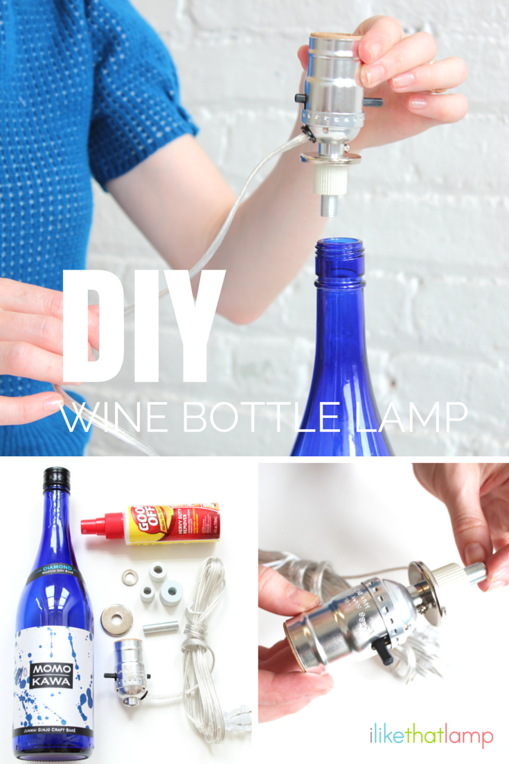 Flasche Kronleuchter · Leere Flaschen · HOW DO YOU MAKE A LAMP OUT OF A  WINE BOTTLE?