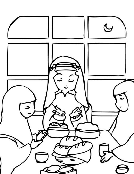 Muslim Family praying before eating. (Dua). Great for ...