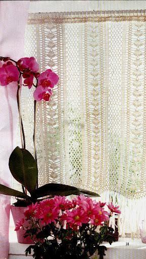 Crocheted Curtain | cortina | Pinterest | Häkeln, Vorhänge und ...