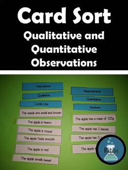Card Sort: Qualitative and Quantitative Observations ...