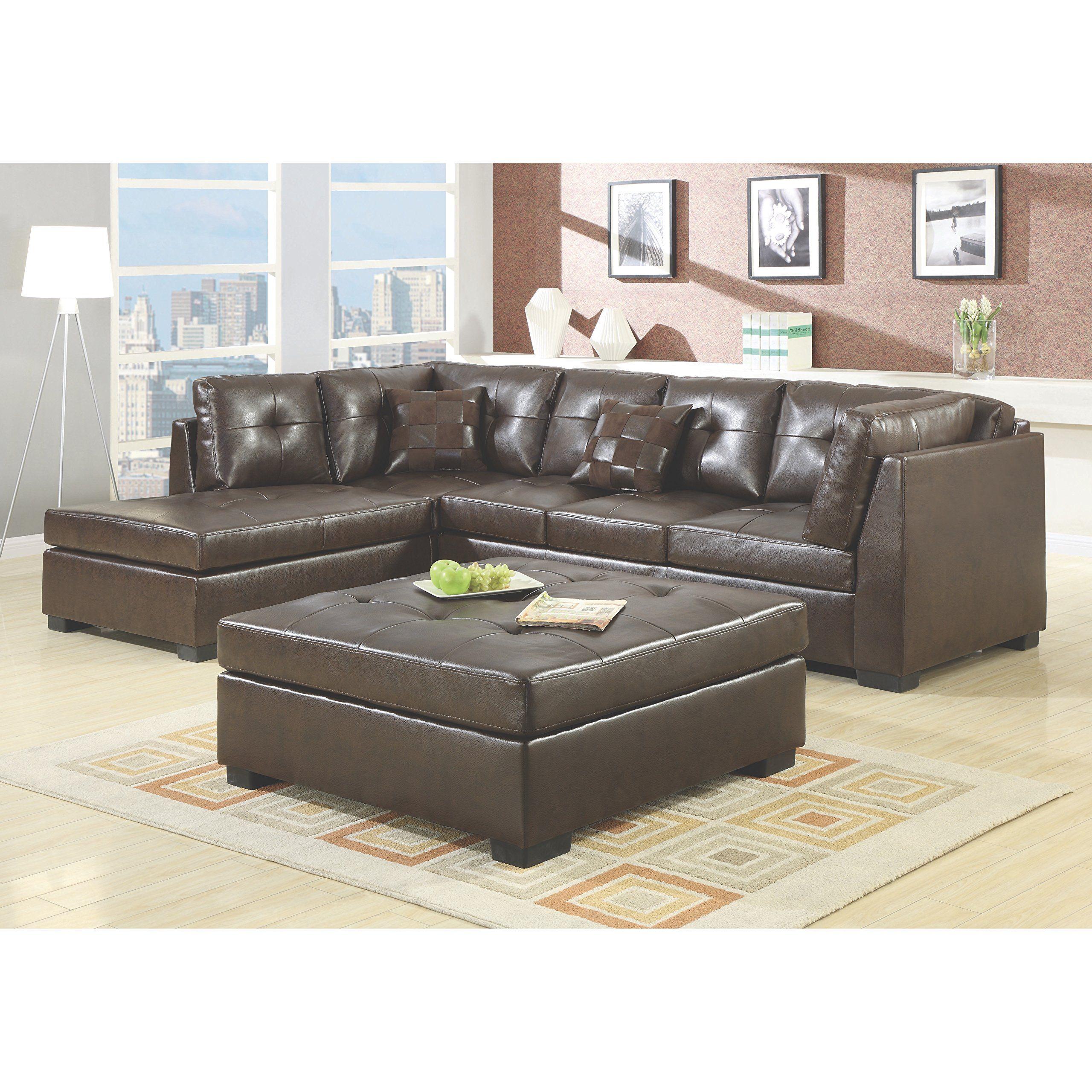 Coaster Home Furnishings 500686 Casual Sectional Sofa Brown Brown Sectional Sofa Contemporary Sectional Sofa Sectional Sofa