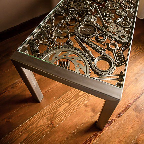 Photo of Steel Coffee Table | Custom Furniture | Engine Parts Table