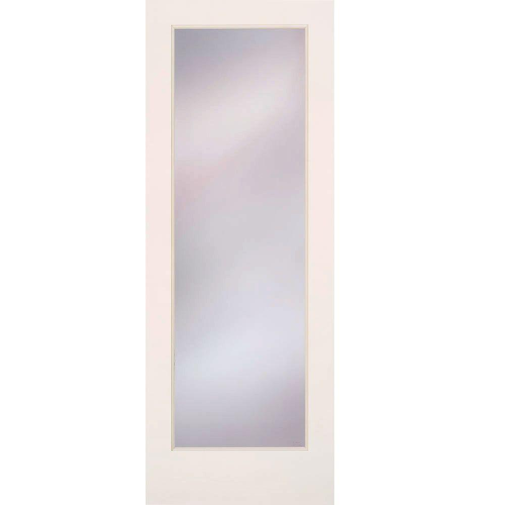 Feather River Doors 30 In X 80 In Privacy Smooth 1 Lite Primed Mdf Interior Door Slab Pn15012668e680 Doors Interior Frosted Glass Interior Doors Glass Doors Interior