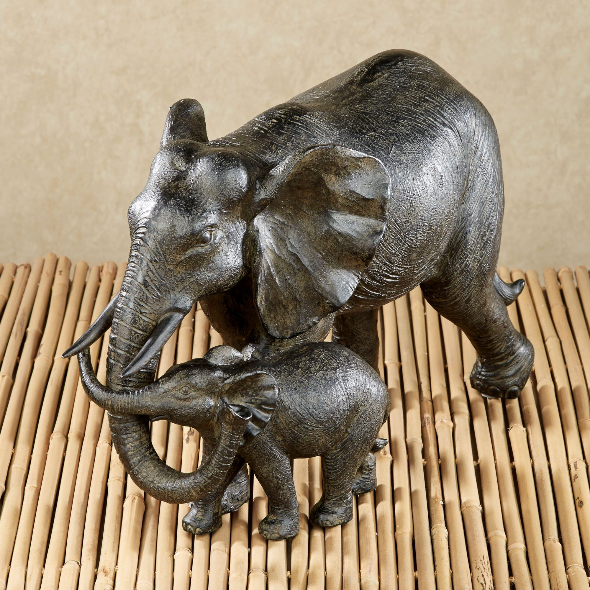 Matriarch and Calf Elephant Table Sculpture ~ $49.99 at touchofclass.com