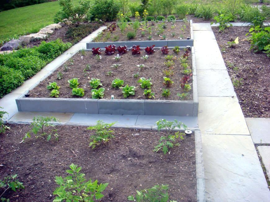 Concrete Raised Garden Beds Backyard Bed Ideas On Using Blocks