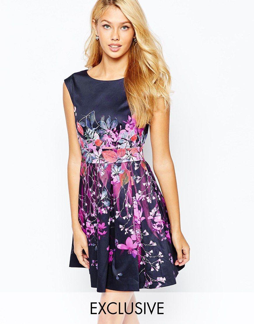 Closet Ombre Floral Skater Dress | fashion | Pinterest ...