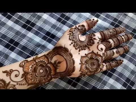 Buy Henna Mehndi Uk : Simple traditional filler work in henna mehndi design tutorial