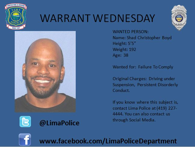 The Lima Police Department has active warrants for these