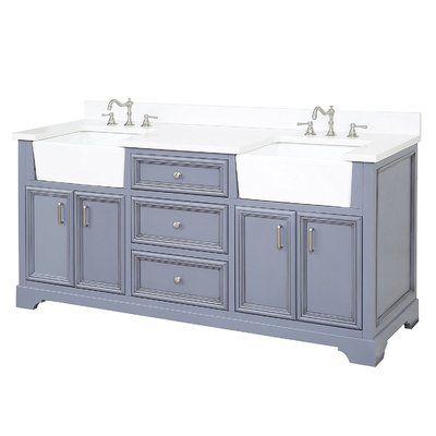 Charlton Home Montleban 72 Double Bathroom Vanity Set 72 Inch