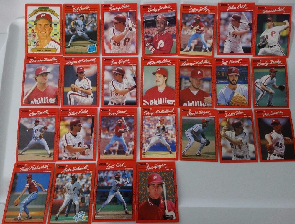 1990 donruss philadelphia phillies team set of 25 baseball