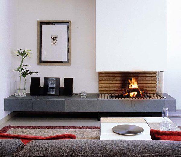Chimeneas con estilo chimeneas pinterest chimeneas for Hogares modernos a gas