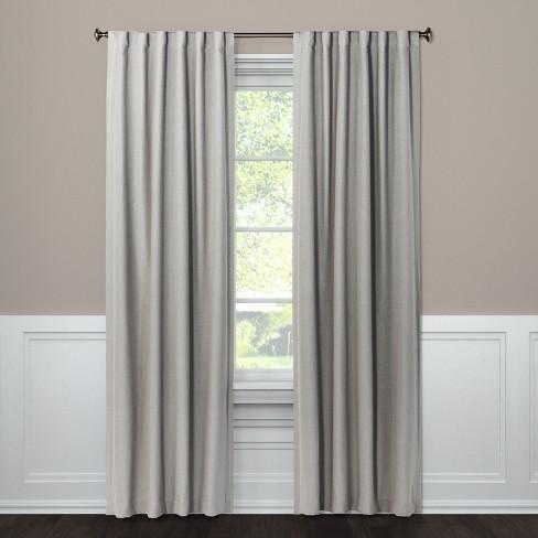 Blackout Curtain Panel Aruba Gray Stone 108 Threshold Gray