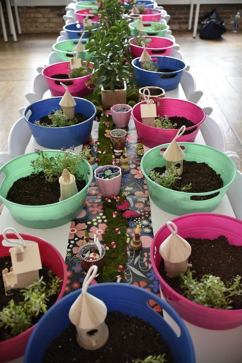 Fairy Garden Craft Party | Kara's Party Ideas