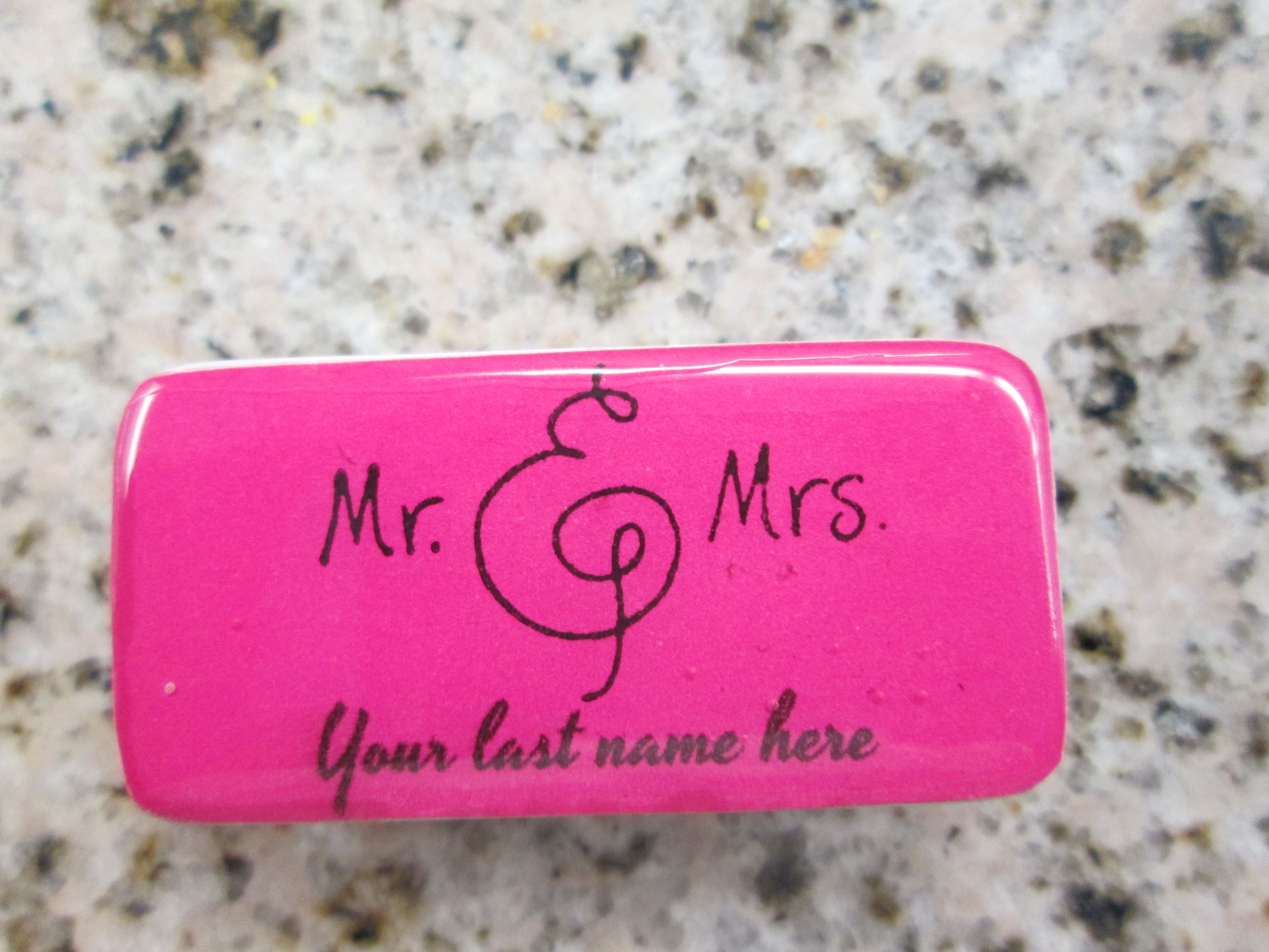 wedding token domino magnet | Personalized Custom Dominos ...