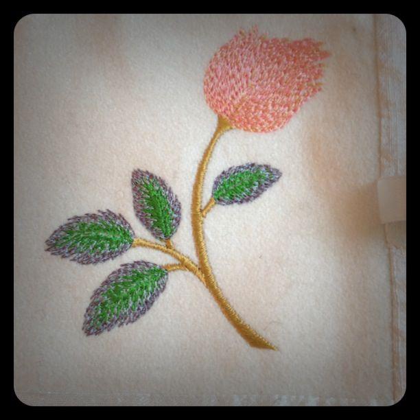 Sewing needle holder Wool/cotton mix $20