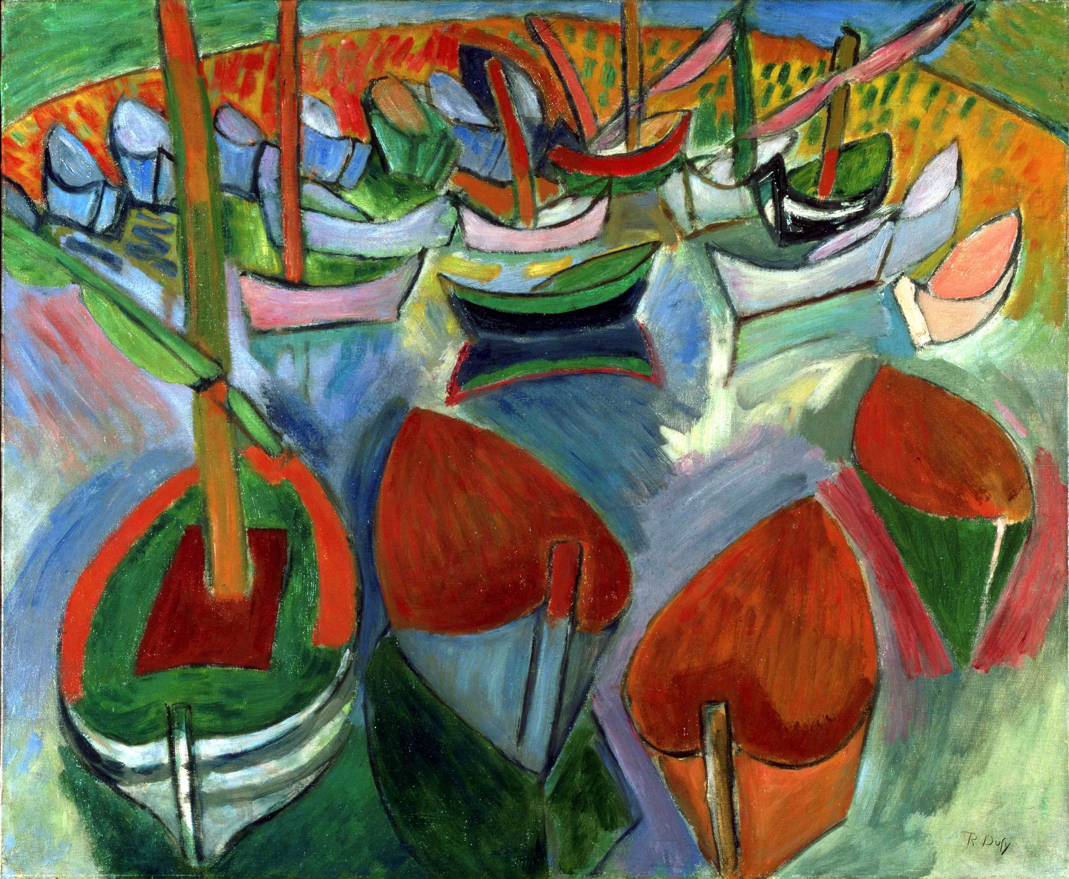 Raoul Duffy, Barques à Martigues. 1908 #art #paint # ...