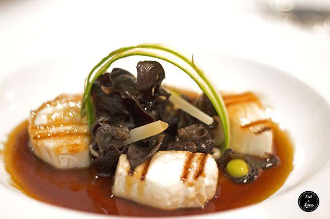 Pez mantequilla braseado con salsa ponzu y ensalada de encurtidos - Restaurante Metro Bistro Madrid
