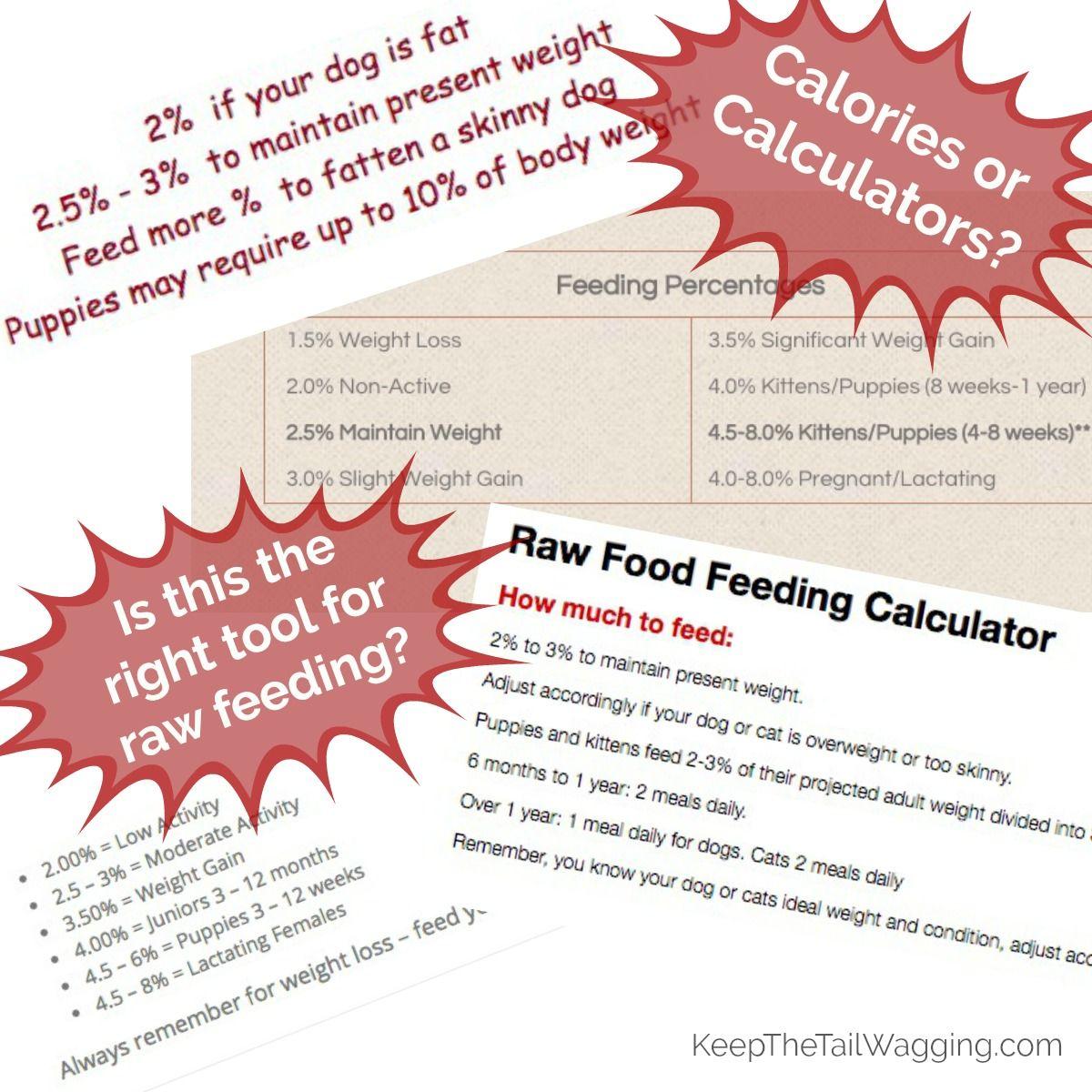 Should Raw Feeders Be Using A Raw Feeding Calculator Or Should We