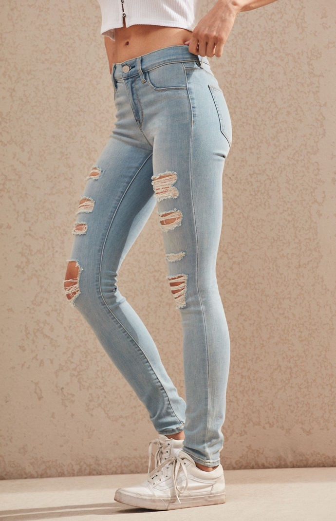 572134fb01e95 Pacsun Mae Blue Perfect Fit Jeggings - 25 | Products | Jeggings ...