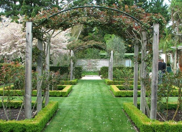 ARCH WAYS IN MY garden | And boxes of box and beds of roses...