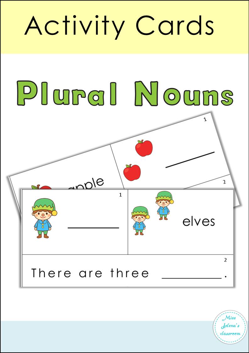 Plural Nouns Activity Cards Activities, Plural nouns