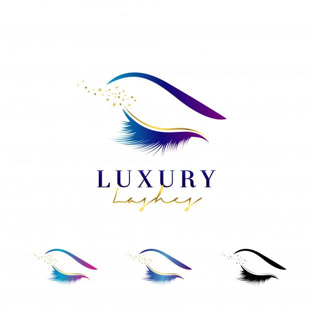 Luxury Eye Lashes Logo Lashes logo, Eyelash logo, Eye