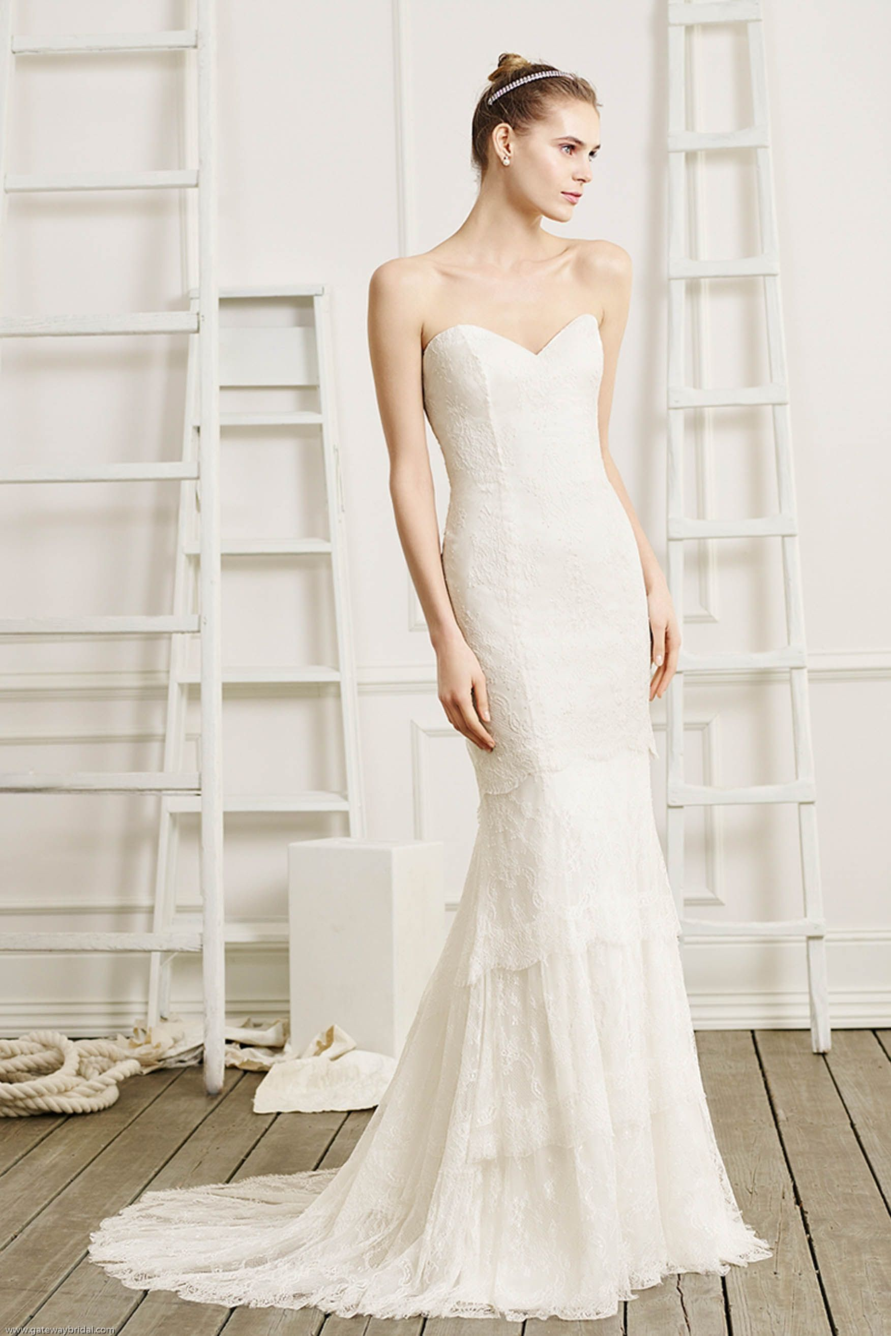 Strapless Wedding Dress with Lace | BL216 by Gateway Bridal and ...