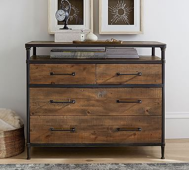 Juno Reclaimed Wood Dresser Bedroom Bed Side Table Also Available