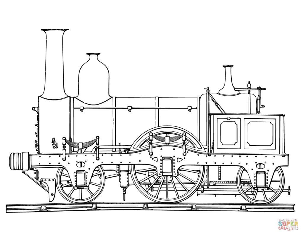 Steam Train Coloring Page Rr Art Pinterest Transportation