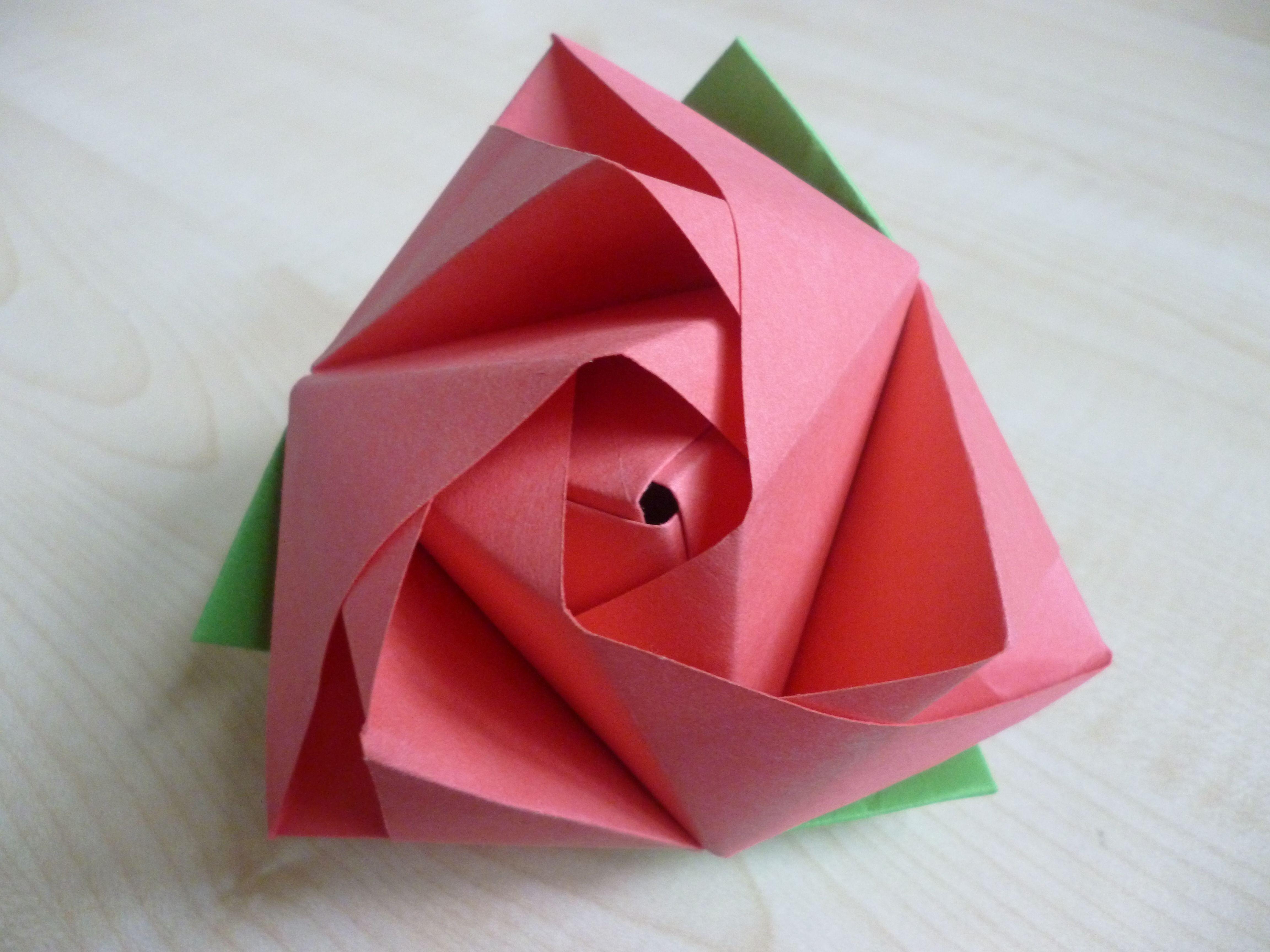 Magic Rose Cube - DIY Modular Origami Tutorial by Paper Folds ... | 3456x4608