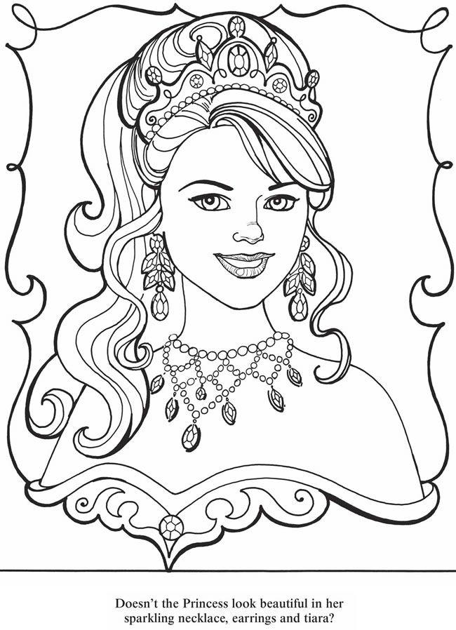 dover sampler princess coloring book