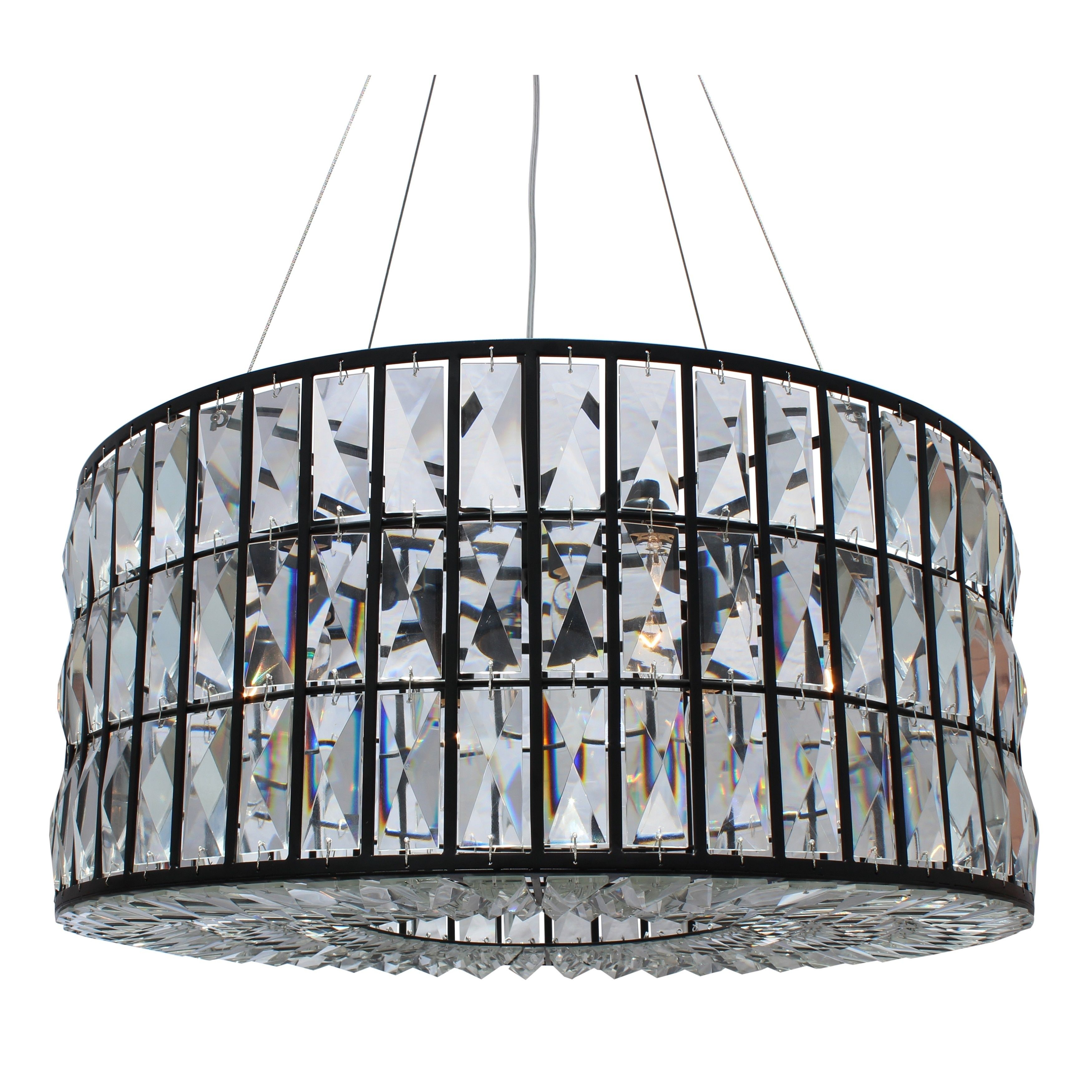 The Monroe Round Clear Crystal Chandelier (Monroe Round Clear ...