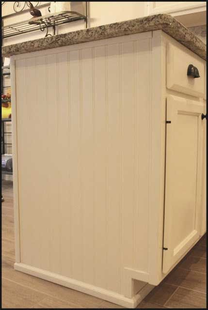 adding beadboard to kitchen cabinets existing add wallpaper bead board sides cover
