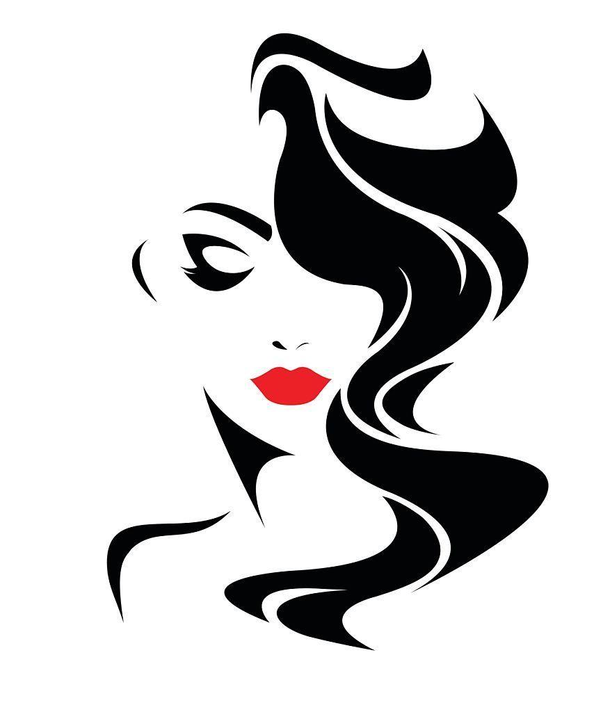 Women Long Hair Style Icon Logo Women Face On White Background Background Face Hair Icon Logo Long Style White In 2020 Silhouette Art Art Illustration Art