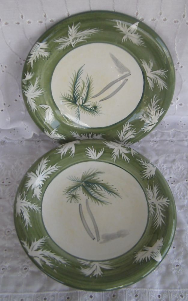 Sakura Oneida Casual Dining Tropical Breeze Palm Tree Salad Plates ...
