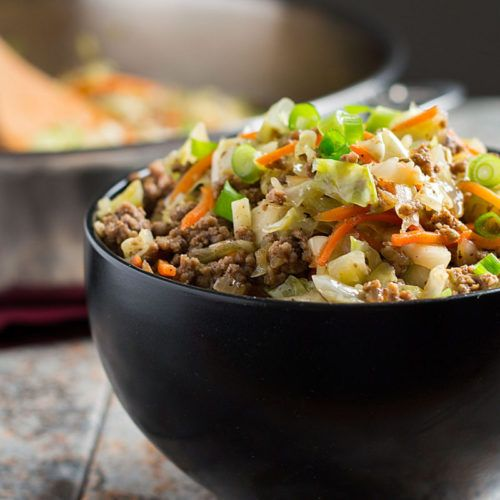 Egg Roll in a Bowl--easy, healthy, and delicious! | Whole New Mom