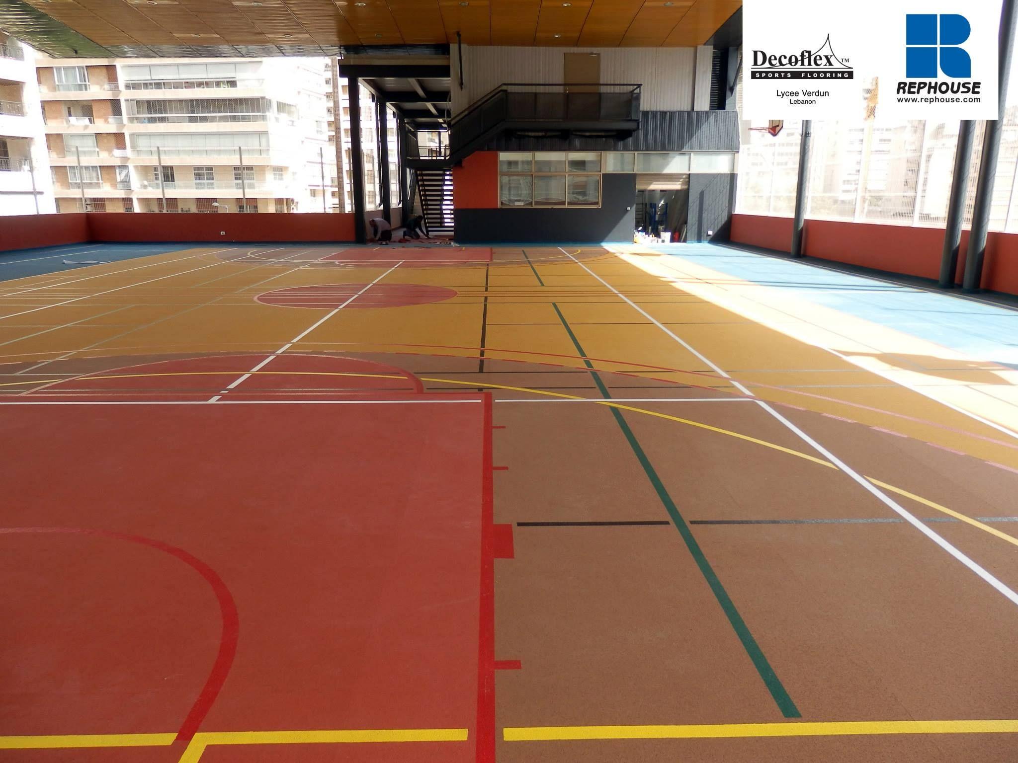 Decoflex D Outdoor Rubber Sports Flooring Lyce Verdun Lebanon