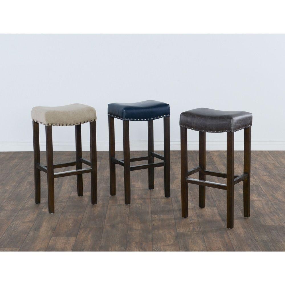 Kai 31 Inch Backless Barstool By Kosas Home Backless Bar Stools