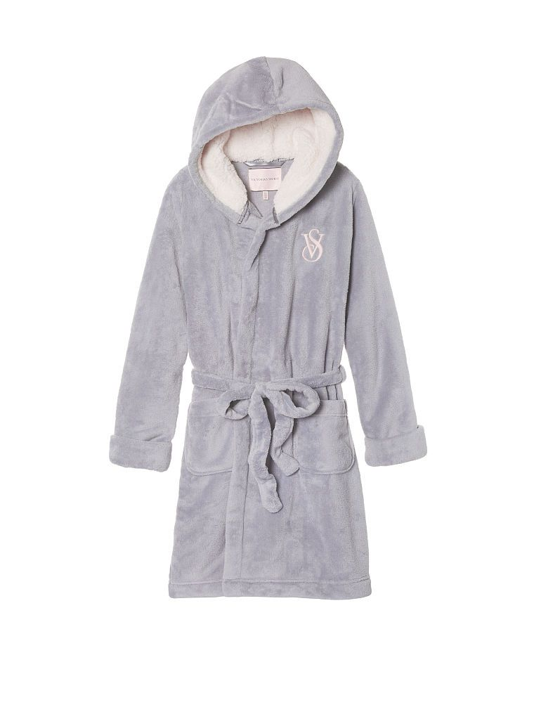 The Cozy Hooded Short Robe Victoria 39 S Secret Womens Robes Long Short Gown Dress