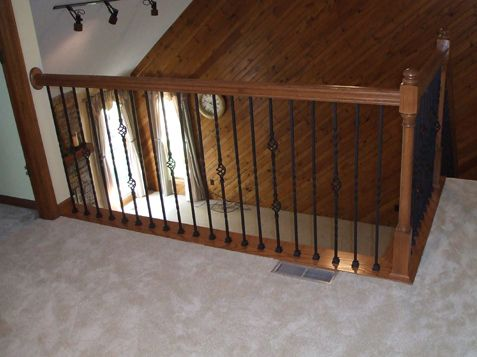 Best Naperville Stairs And Railings With Iron Balusters Home 400 x 300