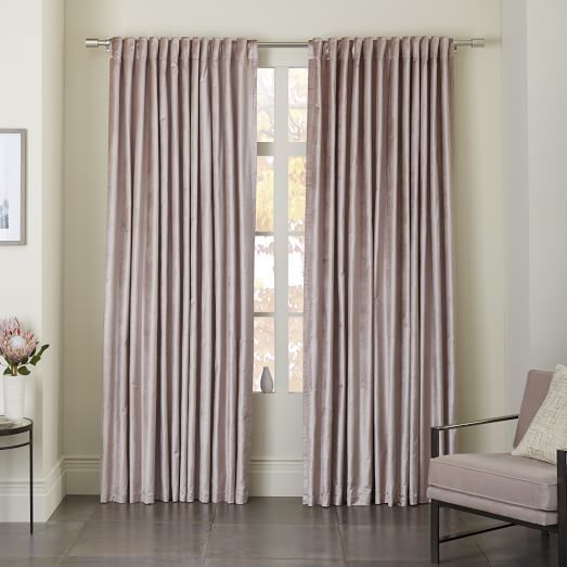 Grey Blackout Panel Curtains