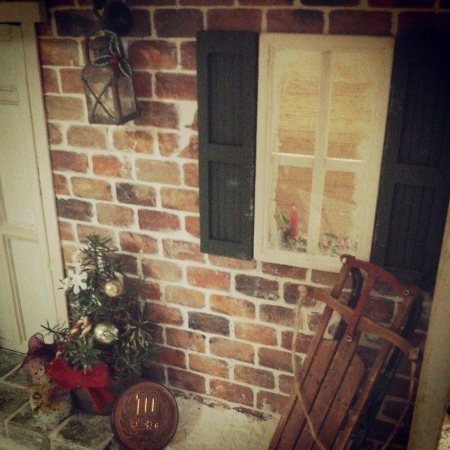 #ミニチュア#クリスマスキャンドル#窓#ドールハウス#miniature#miniture#christmas#handmade#candle 窓の内側もちゃんとクリスマスしましたo(^-^)o