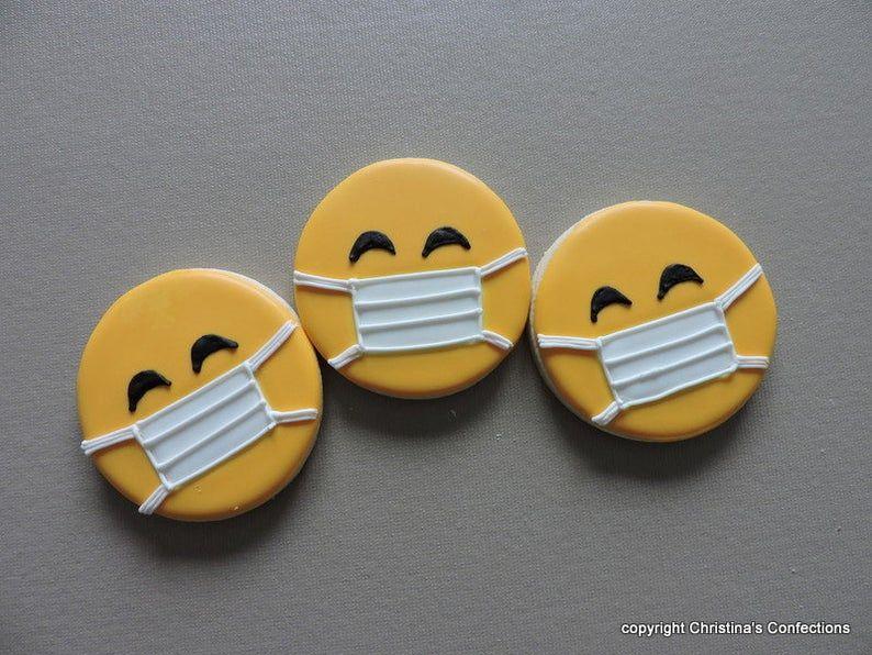 Emoji Face mask cookie cutter