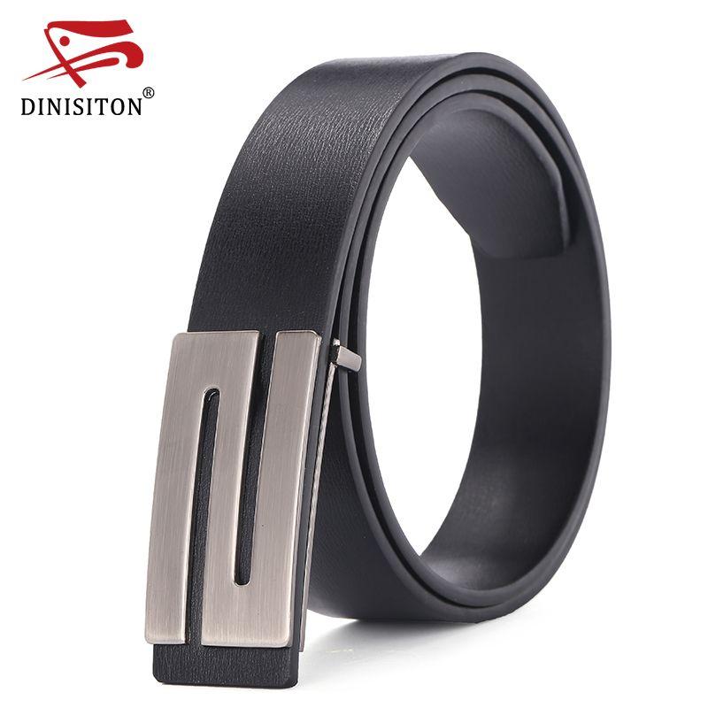 DINISITON Designer Belts For Men Belt Strap Male Cowhide Leather Belt Black  Smooth Buckle Young Fashion Ceinture Cinturone  Affiliate 5010c7dd01c